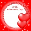 """Vector """"Happy Valentin's Day"""" card with red hearts — Stock Vector #19544511"""