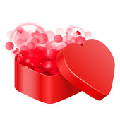 Vector illustration of red heart box — Stock Vector