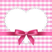Vector pink frame with heart — Stock Vector