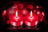 Vector fundo romântico com duas velas — Vetorial Stock