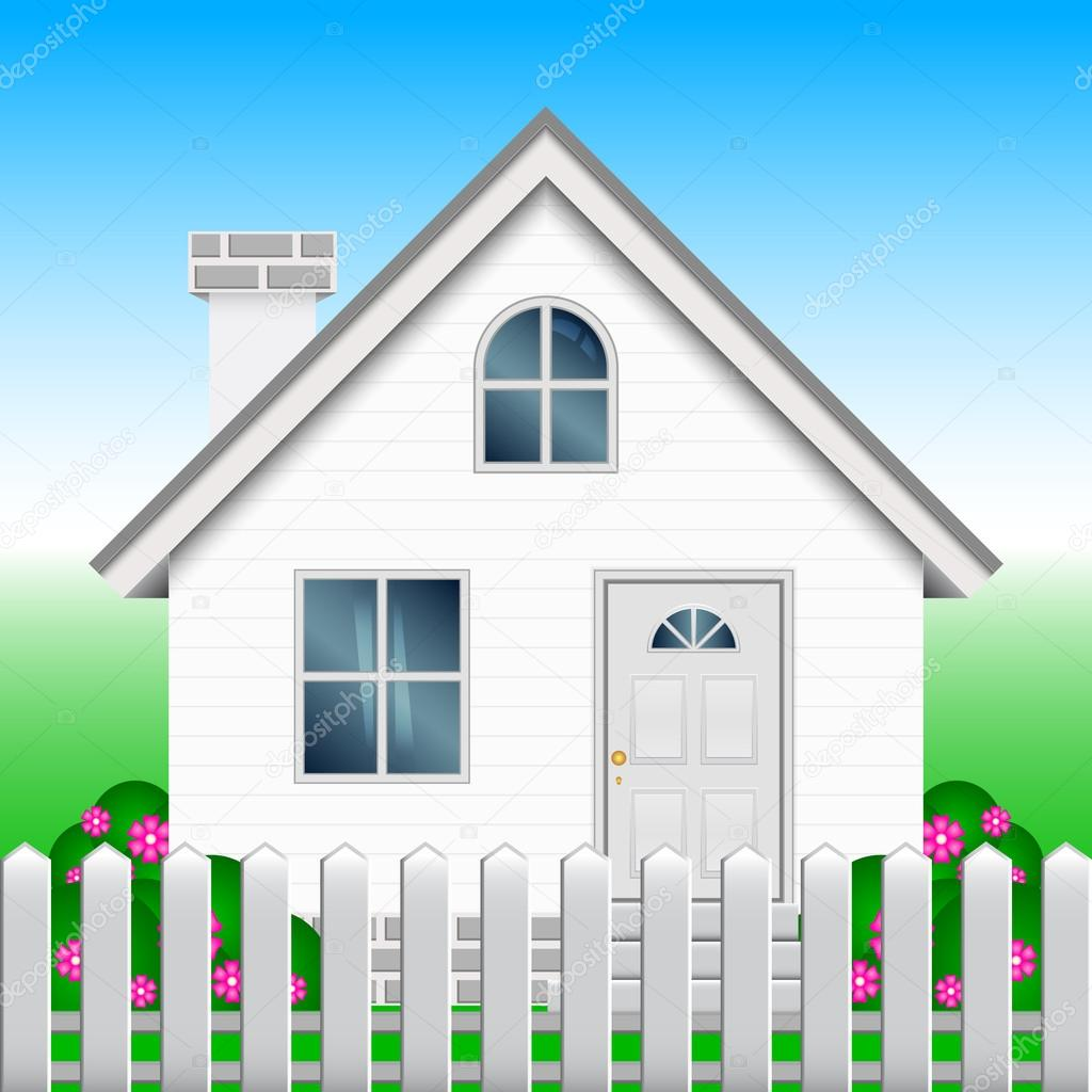 Vector Illustration Of House And Garden Stock Vector
