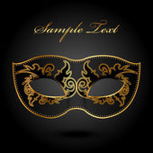 Mystery - vector background with ornate mask — Stock Vector