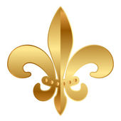 Vector gold Fleur-de-lis ornament — Stock Vector