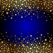 Vector blue and gold luxury background — 图库矢量图片