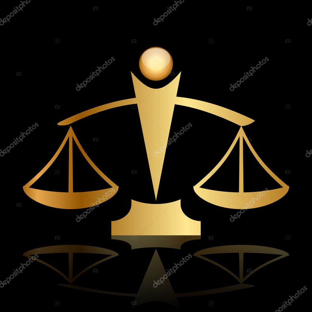 Scale Of Justice Icon Vector gold icon of justiceUnbalanced Scale Of Justice Vector