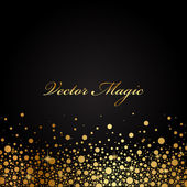 Vector black and gold luxury background — Stock Vector