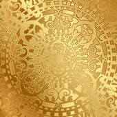Vector gold background with oriental decoration — Stock Vector