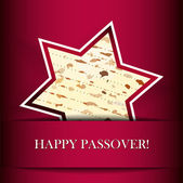 Vector Passover card with matza (Star of David shape) — Stock Vector