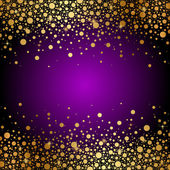 Vector purple and gold luxury background — ストックベクタ