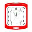 Vector illustration of alarm clock — Stock Vector