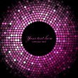 Vector pink disco lights on black background — Stock Vector #25989193