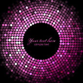 Vector pink disco lights on black background — Stock Vector