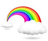Ilustración vectorial de brillante arco iris — Vector de stock
