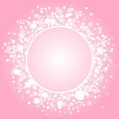 Vektor abstrakt rosa ram — Stockvektor