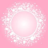 Vektorové abstraktní růžový rám — Stock vektor