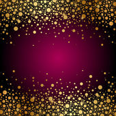 Vector maroon background with gold sparkles — Stock Vector