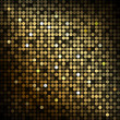 Gold disco lights - vector abstract background — Stockvektor