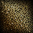 Gold disco lights - vector abstract background — ストックベクタ