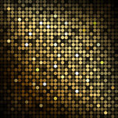 Gold disco lights - vector abstract background — Stock Vector