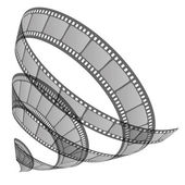Ilustração em vetor de rolo de filme — Vetorial Stock