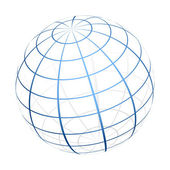 Vector globe icon — Stock Vector