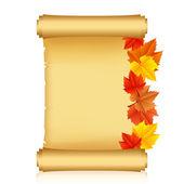 Ilustración del vector de desplazamiento con hojas de otoño — Vector de stock