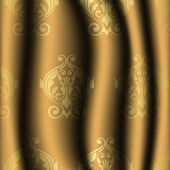 Vector illustration of vintage material with gold pattern — Stok Vektör