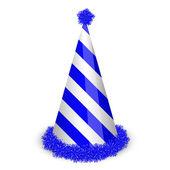 矢量插画的蓝色生日帽 — 图库矢量图片