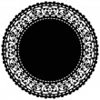 Vector illustration of black doily — Stock Vector