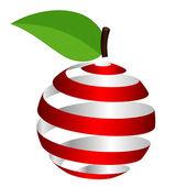 Vector apple from ribbon — Stock Vector