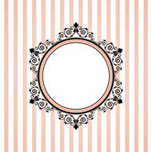 Vector pink striped frame — Vector de stock