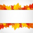 Vector autumn frame with leaves — Stock Vector