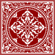 Vector red and white asian rug — Vektorgrafik