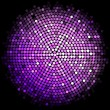 Vector purple disco lights background — Stock Vector #33316741