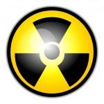 Vector radiation warning symbol — Stock Vector