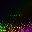 Vector black background with colorful lights — Stock Vector #33317265