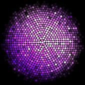 Vector purple disco lights background — Stock Vector