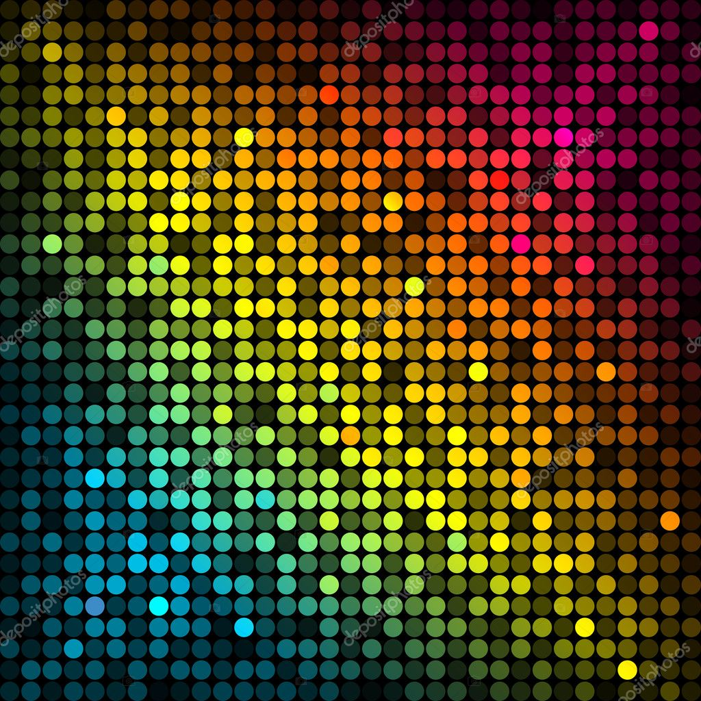 Vector Background With Colorful Disco Lights Stock