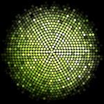 Vector green disco lights background — Stock Vector