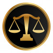 Vector justice scales icon — Stock Vector