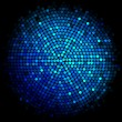 Vector blue disco lights background — Stockvektor