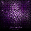 Vector abstract background - purple disco lights — Stock Vector
