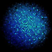 Vector blue disco lights background — Stock Vector