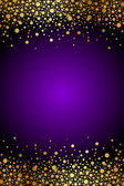 Vector purple and gold luxury background — Stock Vector
