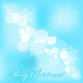 Vector Merry Christmas background with snowflakes — Stock Vector