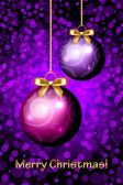 Vector Merry Christmas purple background — Stock Vector