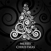 Vector Merry Christmas vintage card — Stock Vector