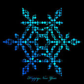 Vector illustration of snowflake from disco lights — Vector de stock