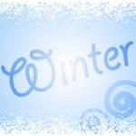 Vector winter glass — Stock Vector