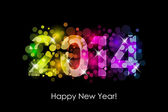 Vector Happy New Year - 2014 colorful background — Stock Vector